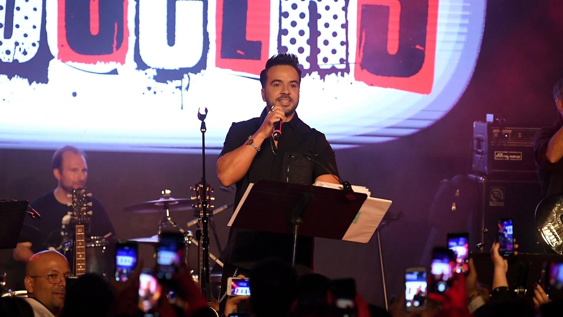 Luis Fonsi en Los Producers. Foto de EFE
