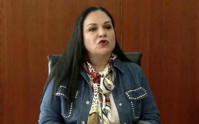 """""""Fue legal y se validó"""" votación para titular de la CNDH, afirma Mónica Fernández - Mónica Fernández, presidenta del Senado, en conferencia de prensa. Captura de pantalla"""