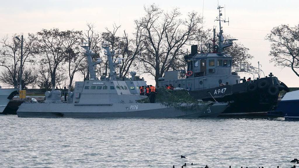 Rusia devuelve a Ucrania barcos capturados en 2018 - Naves de la Armada ucraniana, Berdyansk, Nikopol y Yany Kapu. Foto de TASS