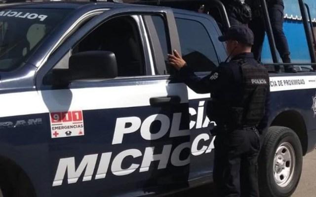 Detienen en Michoacán a siete policías por asesinato de comerciante - Policía Michoacán. Foto de @MICHOACANSSP