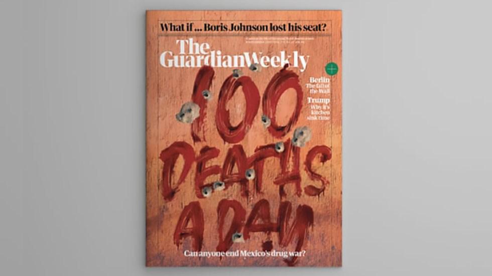 The Guardian critica escaso progreso contra asesinatos por drogas - Portada de la revista semanal de The Guardian con especial de la lucha contra las drogas en México. Foto de The Guardian