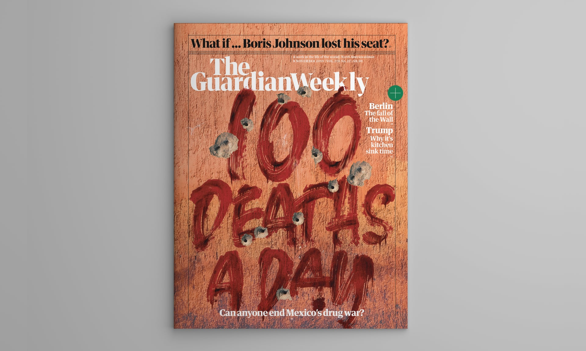La portada del Guardian Weekly, subida el 8 de noviembre. Foto de GNM.