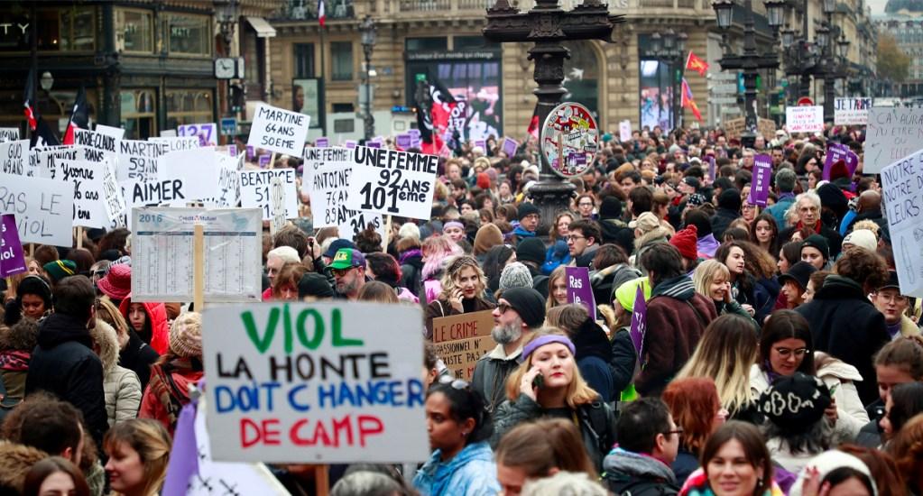 Protestas en Francia contra la violencia machista - Protestas en Francia contra el machismo