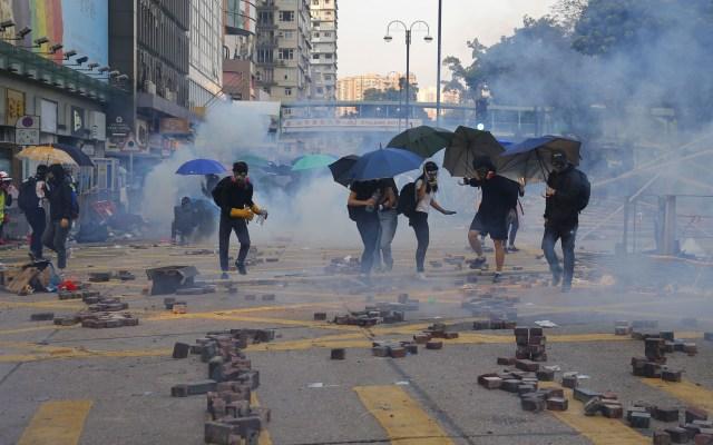 Detienen a cinco jóvenes por muerte de anciano durante protestas en Hong Kong - Protestas en Hong Kong. Foto de EFE