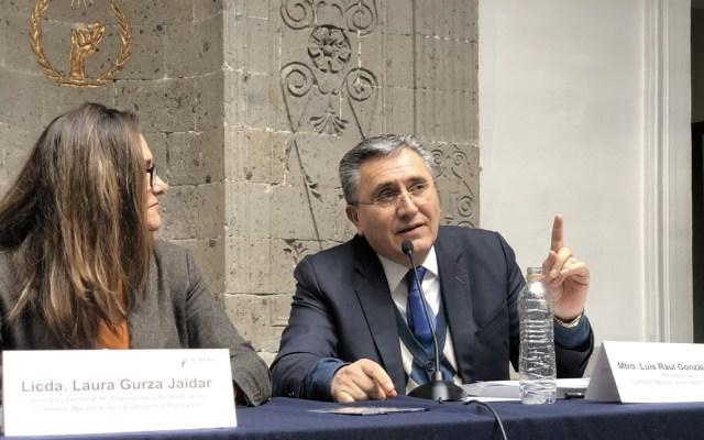 Luis Raúl González desea éxito a Rosario Piedra en la CNDH - Foto de Twitter CNDH