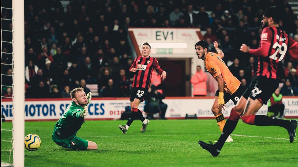 #Video Raúl Jiménez anota en victoria contra el Bournemouth - Foto de Twitter/@Wolves