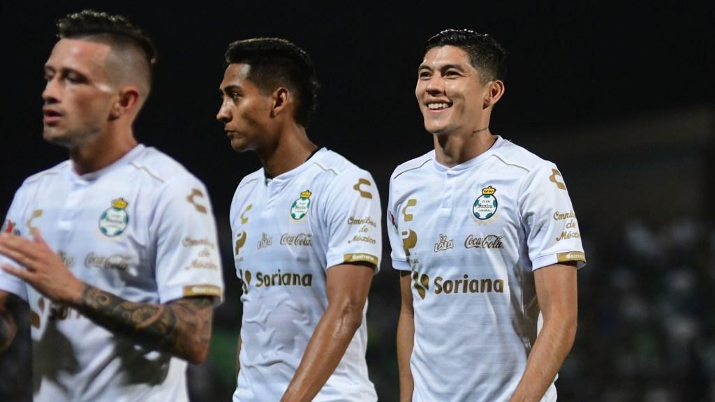 Santos derrota a Cruz Azul y se amarra al primer lugar de la clasificación - Santos Partido Cruz Azul Liga MX