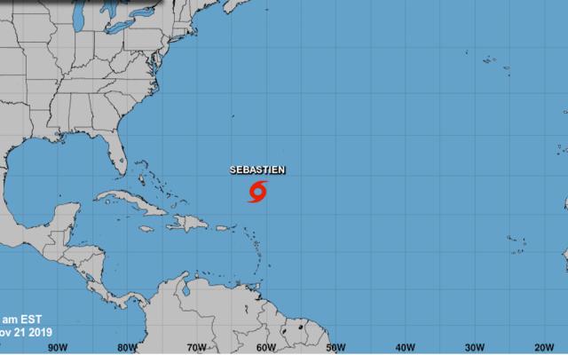 La tormenta tropical Sebastián puede llegar a huracán esta noche - La trayectoria de Sebastian. Foto de NHC.