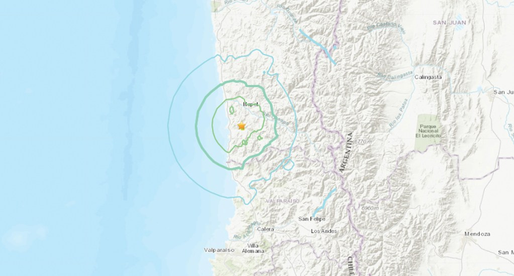 Se registra sismo de 6.1 en Chile - Foto de USG