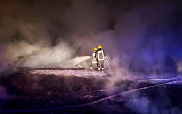 Sofocan incendio en estación de rebombeo de Pemex en Tetepango - Sofocación de incendio en Tetepango. Foto de @CNPC_MX