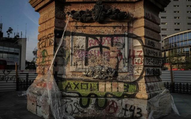 Vandalismo actúa en contra de la causa en la que creemos: Ebrard tras marcha feminista - vandalismo marcha feminista