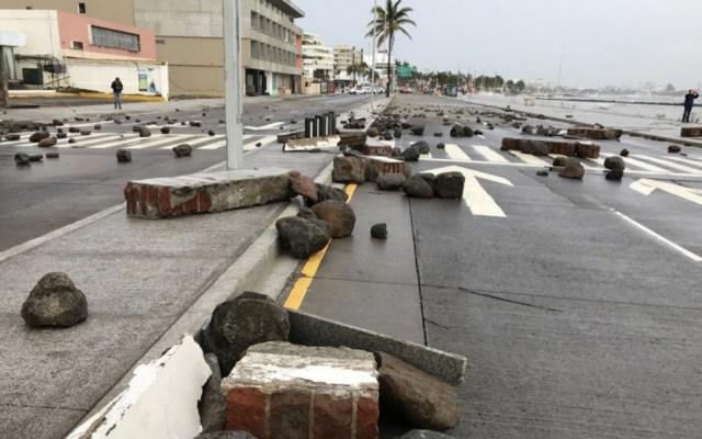 Paso de Frente Frío 8 deja un muerto en Veracruz - Foto de @Jose_Alor