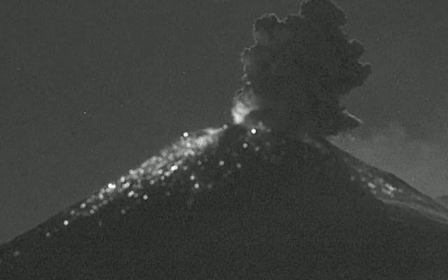 Popocatépetl emite 118 exhalaciones en las últimas 24 horas - Volcán Popocatéptl México exhalación 071119