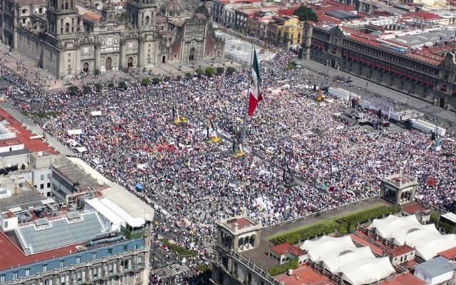 Prevén al menos seis movilizaciones este sábado en la Ciudad de México - Zócalo de la CDMX por evento de AMLO. Foto de lopezobrador.org.mx