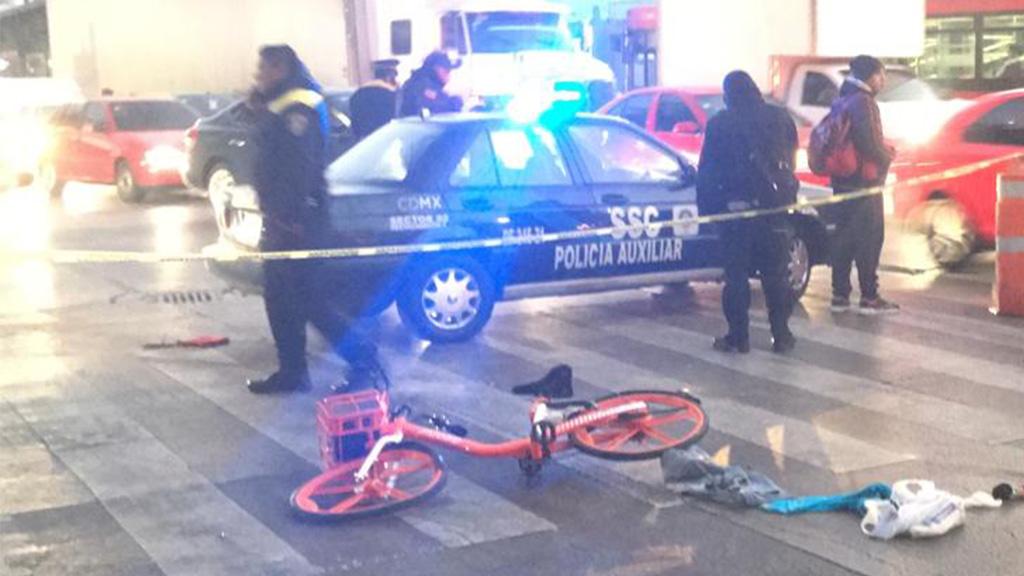 Ciclista muere atropellado en la colonia Guerrero de la Ciudad de México - Atropello de ciclista en la colonia Guerrero. Foto de @Delta25MX