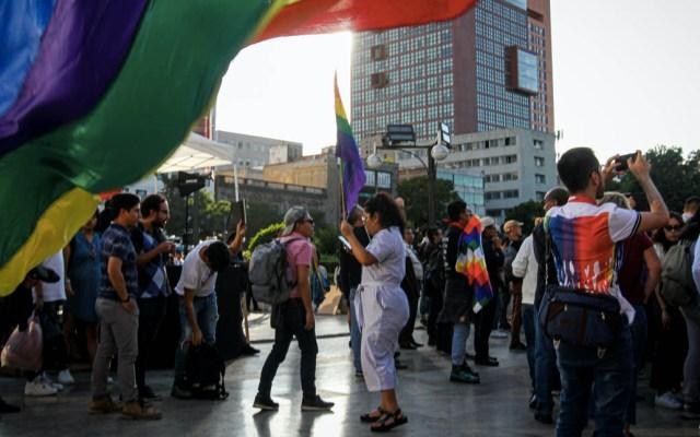 """""""Zapata es de todos"""", reclama la comunidad LGBT en Bellas Artes - Bellas artes Zapata protesta"""