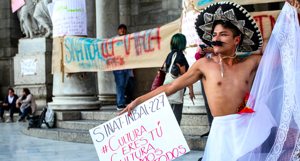 Bellas artes Zapata protesta