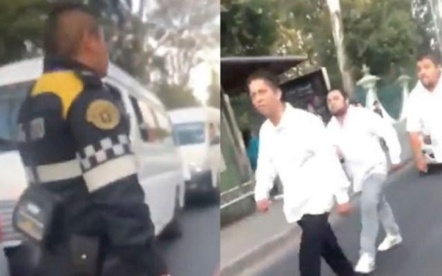 #Video Choferes agreden a policía de tránsito en Estado de México - choferes estado de méxico