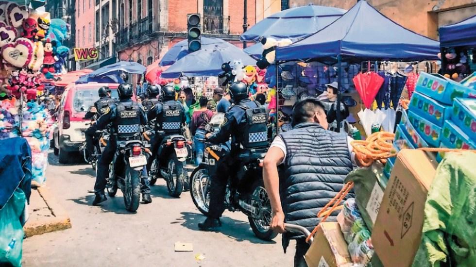 La Unión Tepito tortura a comerciantes del Centro Histórico para extorsionarlos - Comerciantes en el Centro Histórico de la CDMX. Foto de  El Universal