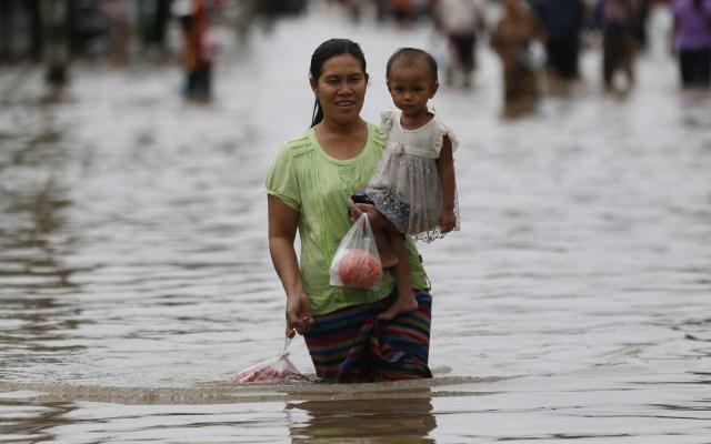 Dentro de 30 años habrá 200 millones de desplazados climáticos - Desplazamiento por inundación. Foto de EFE