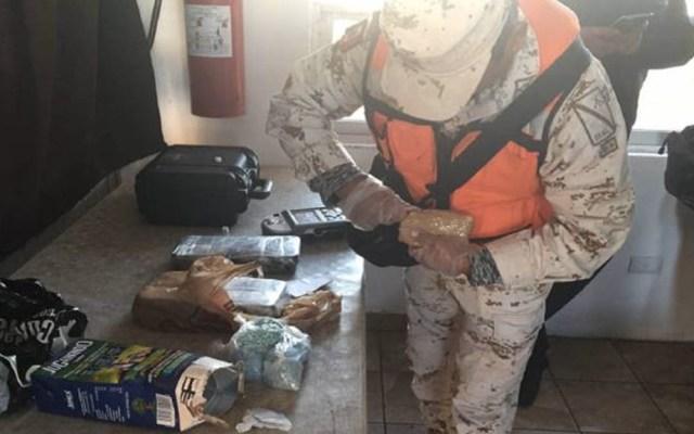 Hallan fentanilo y cocaína ocultas en empaque de jugo en Sonora - Droga fentanilo Sonora Sedena incautación