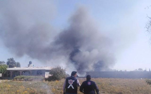 Explota material pirotécnico en bodega de Tepeaca, Puebla - Foto de @PC_Estatal
