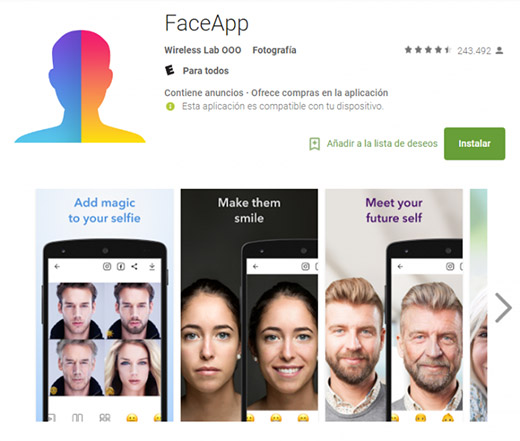 FaceApp. Captura de pantalla / PlayStore