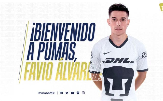 Favio Álvarez, nuevo jugador de Pumas - Favio Álvarez Pumas