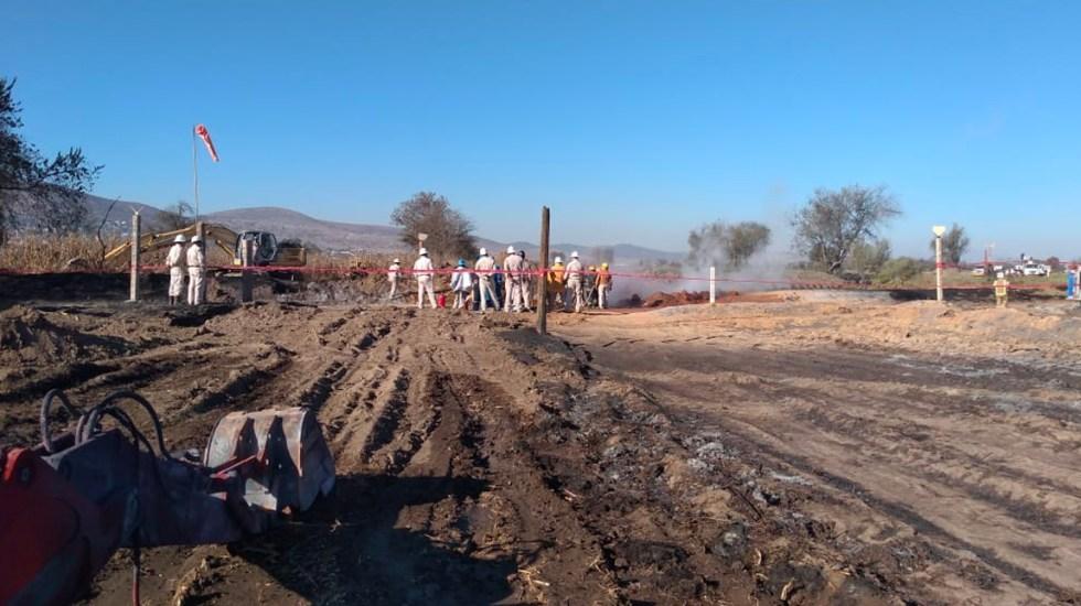 Sofocan incendio por fuga de gas en ducto de Tepeaca, Puebla - Sofocan incendio por fuga de gas en ducto de Tepeaca, Puebla