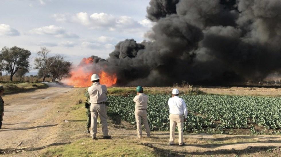Continúan trabajos para controlar fuga de gas LP en Tepeaca, Puebla - Foto de @CNPC_MX
