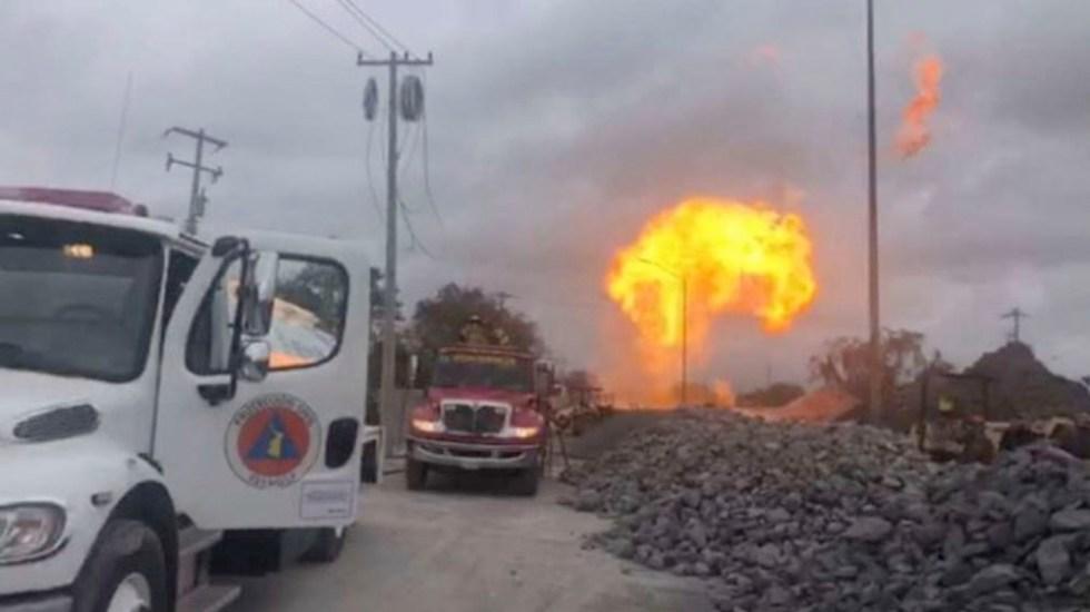 Fuga provoca incendio en gasoducto de Reynosa, Tamaulipas - Fuga provoca incendio en gasoducto de Reynosa, Tamaulipas
