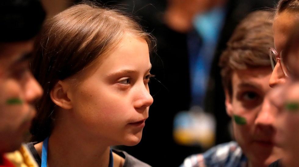 Llega Greta Thunberg a la cumbre climática de Madrid - Greta Thunberg en Madrid por COP25. Foto de EFE