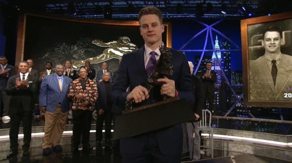 Joe Burrow, ganador del Trofeo Heisman 2019 - Foto de ESPN