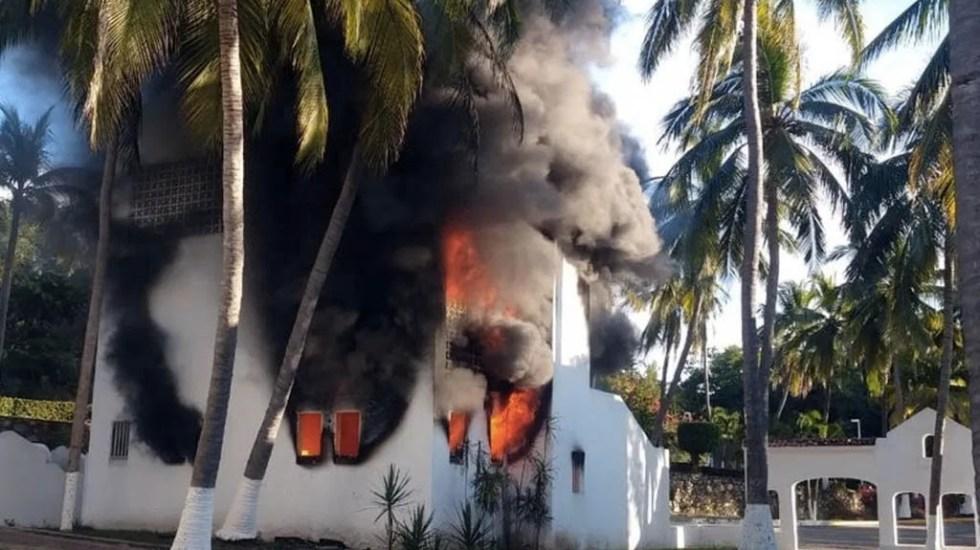 Se incendia bodega de hotel en Manzanillo, no hay lesionados - Incendio Manzanillo hotel