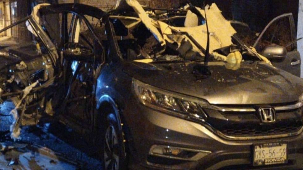 Dos granadas causan explosión de camioneta en Irapuato, Guanajuato - Foto de @cuartodeprensa1