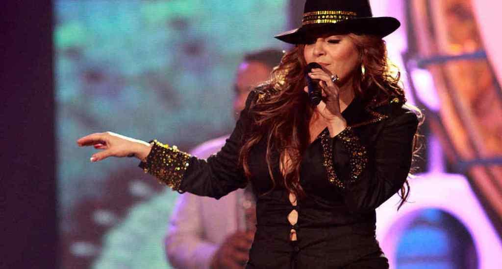 Jenni Rivera en 2009 durante show en el Billboard Latin Music Awards en Miami, Florida. Foto de John Parra.