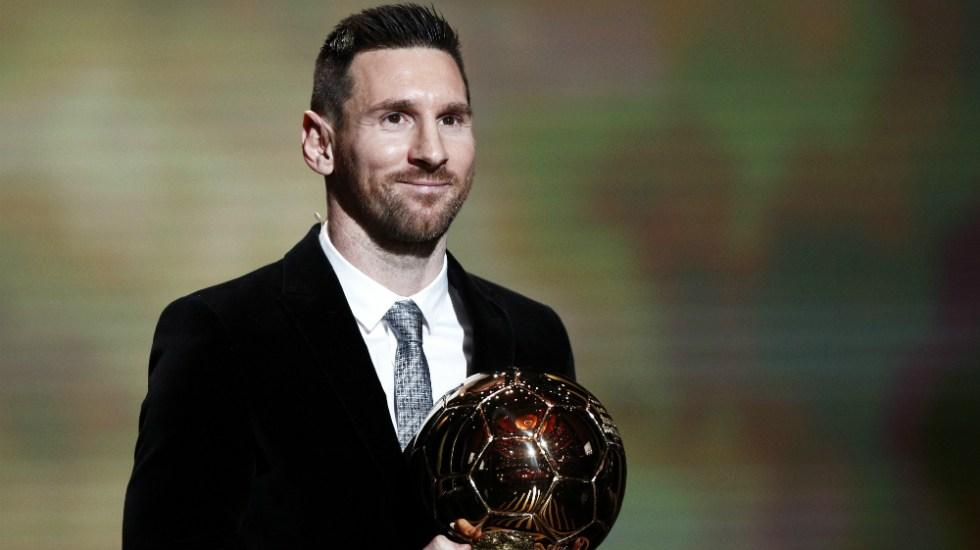 Lionel Messi consigue su sexto Balón de Oro - Foto de EFE