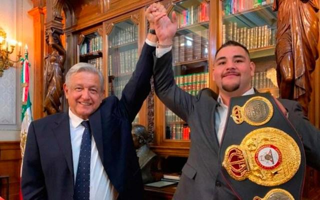 López Obrador manda mensaje de apoyo a Andy Ruiz Jr. - Andrés Manuel López Obrador y Andy Ruiz