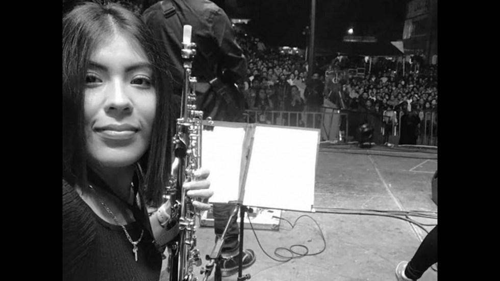 Confirma Fiscalía captura de presunto agresor de la saxofonista María Elena Ríos - La saxofonista María Elena Ríos. Foto de Archivo de José de Jesús Cortés.