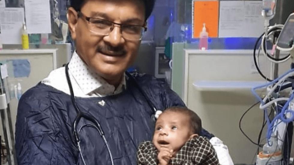Rescatan a bebé enterrada viva en India - Captura de pantalla