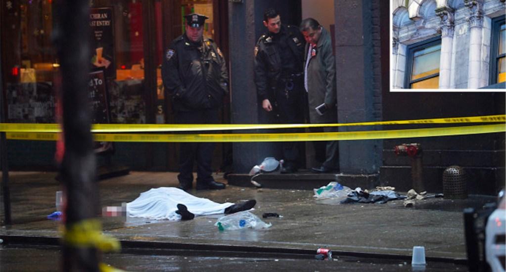 Muere mujer en Times Square al caerle escombros de edificio - Muere mujer en Times Square al caerle escombros de fachada de edificio