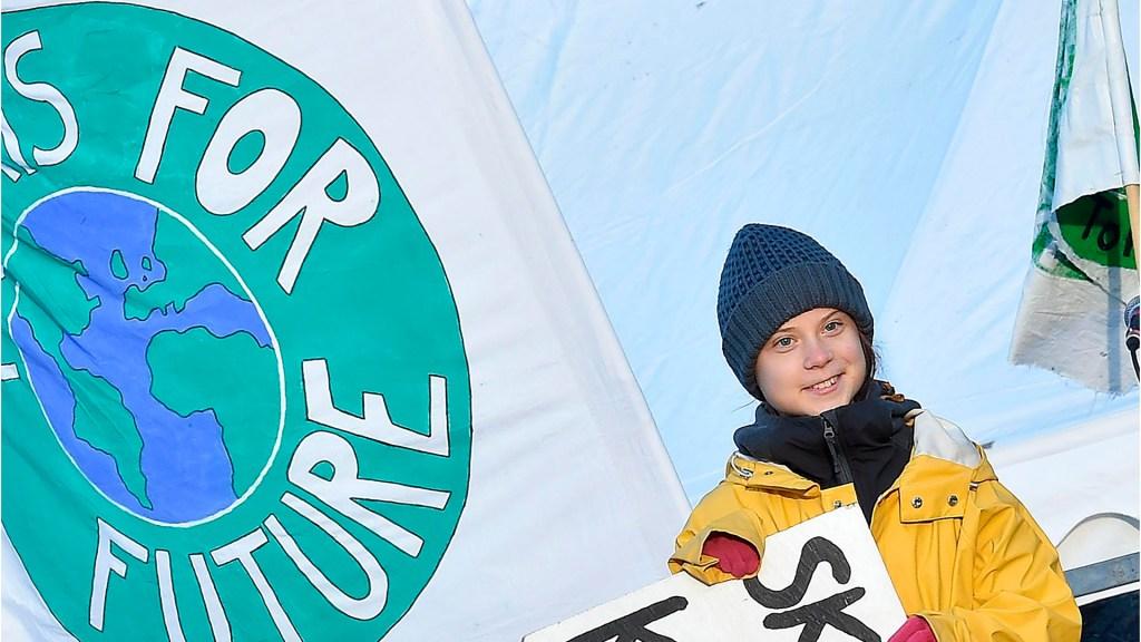 El 2019 fue el año del clamor social contra la crisis climática - Protesta de Greta Thunberg a favor del medio ambiente. Foto de EFE