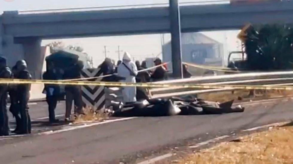 Encuentran restos humanos sobre carretera de Villagrán, Guanajuato - Restos humanos sobre la Panamericana Salamanca-Celaya. Foto Especial