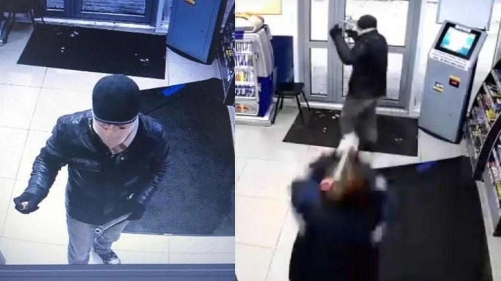 #Video Empleada de tienda enfrenta a asaltante con un trapeador - Rusia tienda asalto trapeador 2