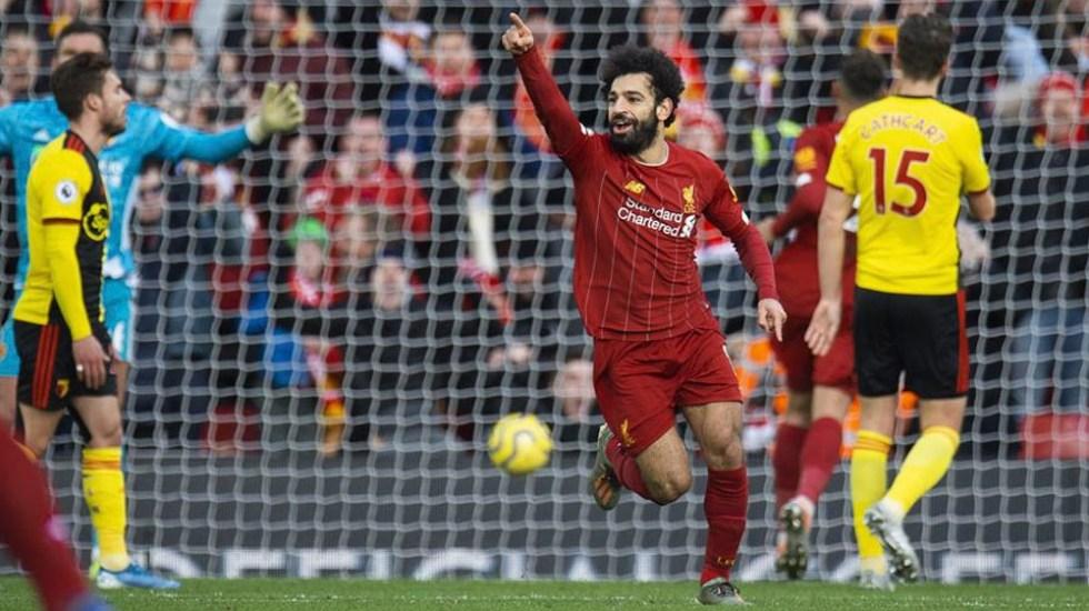Doblete de Salah mantiene al Liverpool en la cima de la Premier - Doblete de Salah mantiene al Liverpool en la cima de la Premier