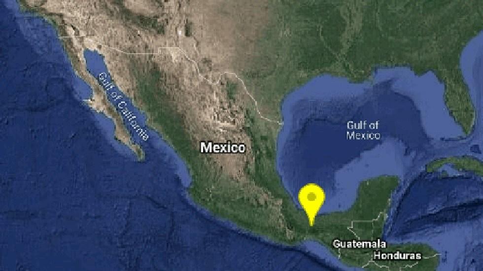 Sismo magnitud 4.2 sacude Sayula, Veracruz - Sismo Sayula, Veracruz. Foto de @SismologicoMX