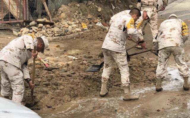 Lluvias provocan inundaciones y derrumbes en Tijuana - Tijuana derrumbes lluvias Baja California 2