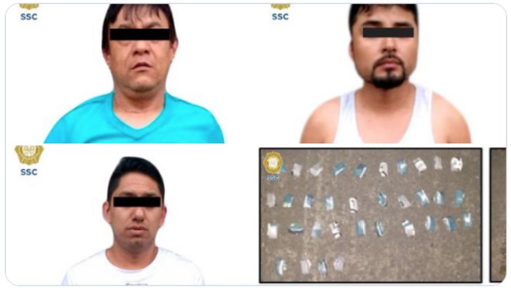 Detienen a tres presuntos integrantes de la Unión Tepito