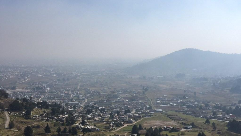 Desactivan contingencia ambiental en Toluca y Santiago Tianguistenco - Las condiciones del Valle de Toluca. Foto de @Foro_TV