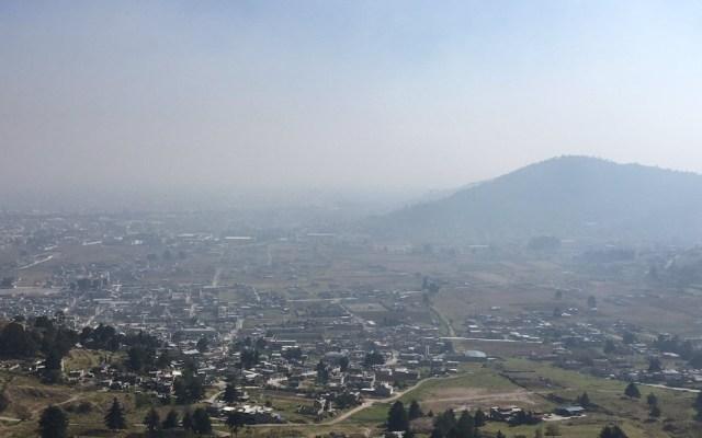 Continúa contingencia ambiental en Valle de Toluca - Las condiciones del Valle de Toluca. Foto de @Foro_TV